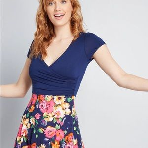 Floral ModCloth wrap dress